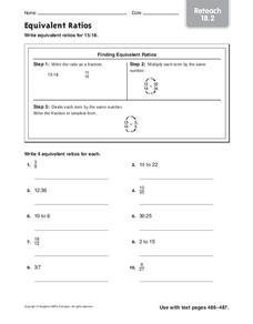 Equivalent Ratios Worksheet