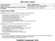 Erie Canal Lesson Plan
