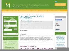 The Texas Social Studies Controversy Lesson Plan