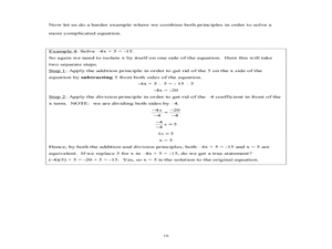Chapter 2: Integers & the Number Line Worksheet