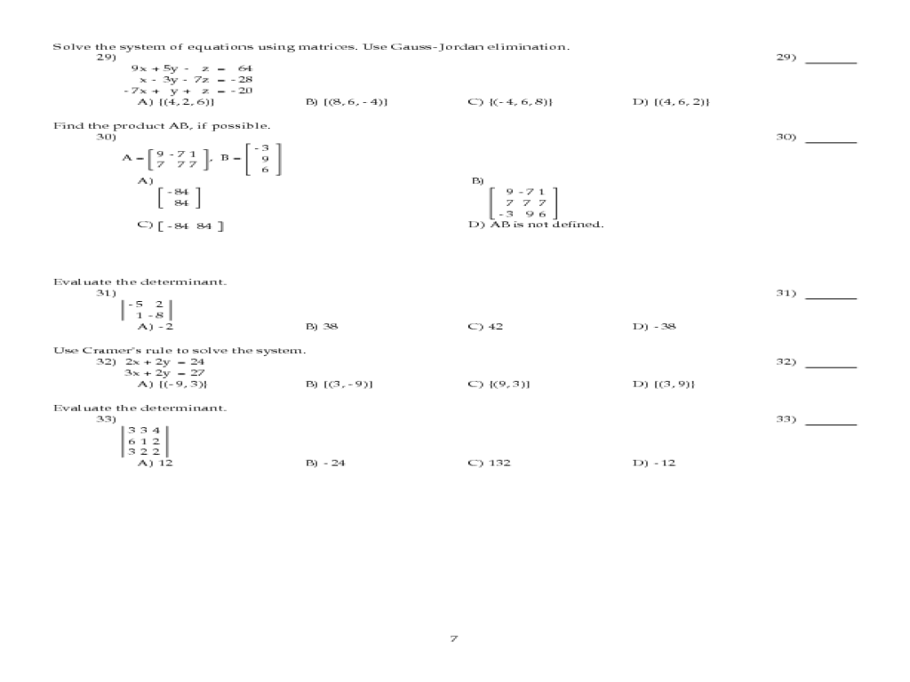 Final Exam Review College Algebra 11th Higher Ed Worksheet – College Algebra Worksheets