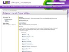 Erikson and Disabilities Lesson Plan
