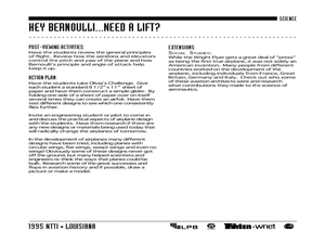 Hey, Bernoulli...Need a Lift? Lesson Plan