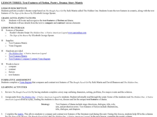 Elements Of Drama Lesson Plans Worksheets Reviewed By