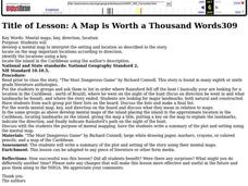 A Map is Worth a Thousand Words Lesson Plan