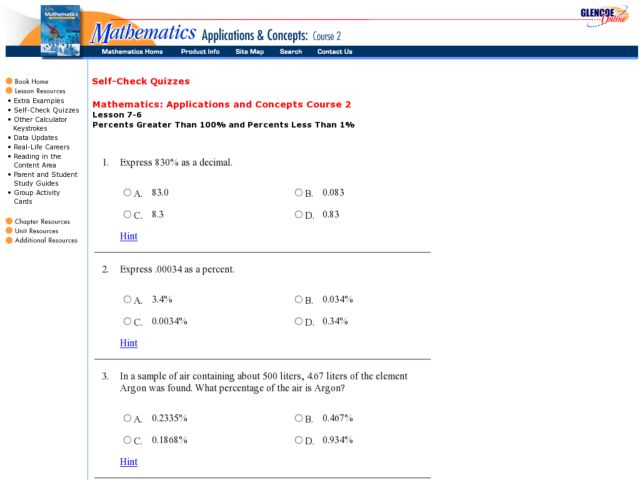 All Worksheets » Percents Greater Than 100 And Less Than 1 ...