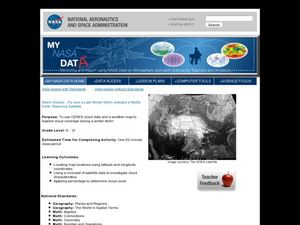 Storm Clouds-- Fly over a Late Winter Storm onboard a NASA Earth Observing Satellite Lesson Plan