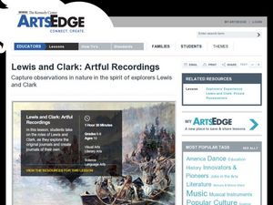 Lewis and Clark: Artful Recordings Lesson Plan