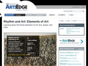 Rhythm and Art: Elements of Art Lesson Plan