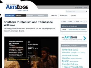 Southern Puritanism and Tennessee Williams Lesson Plan