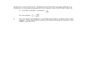 Kinetic Molecular Theory Of Gases Worksheet - resultinfos