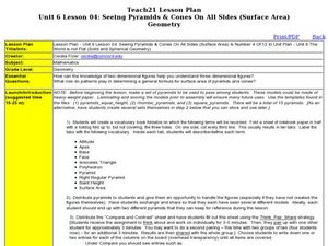 Seeing Pyramids and Cones on all Sides Lesson Plan