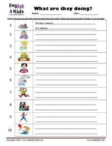 ESL: What Are They Doing? Worksheet
