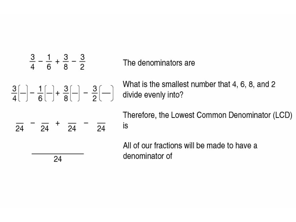 Lowest Common Denominator Worksheet Worksheet For 5th