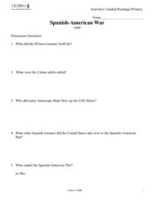 Spanish American War Lesson Plans & Worksheets | Lesson Planet