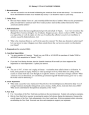 american history 1999 dbq essay Thirty-five minutes are allotted for each of the essays the dbq and the essays account for 50 percent of the composite score  ap us history examination.