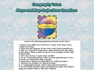 geography tutor maps and map projections questions worksheet for 9th 12th grade lesson planet. Black Bedroom Furniture Sets. Home Design Ideas