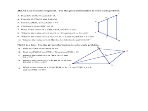 Trapezoids and Kites Lesson Plans & Worksheets Reviewed by Teachers