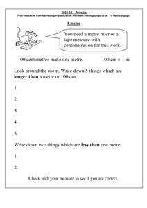 A Metre Worksheet