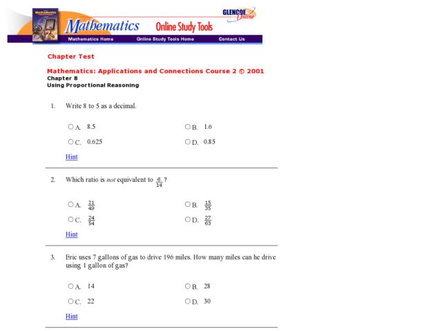 Using Proportional Reasoning Worksheet For 9th 12th Grade Lesson