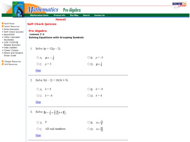 Solving Equations With Grouping Symbols Worksheet For 8th 10th