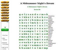 A Midsummer Night's Dream Worksheet