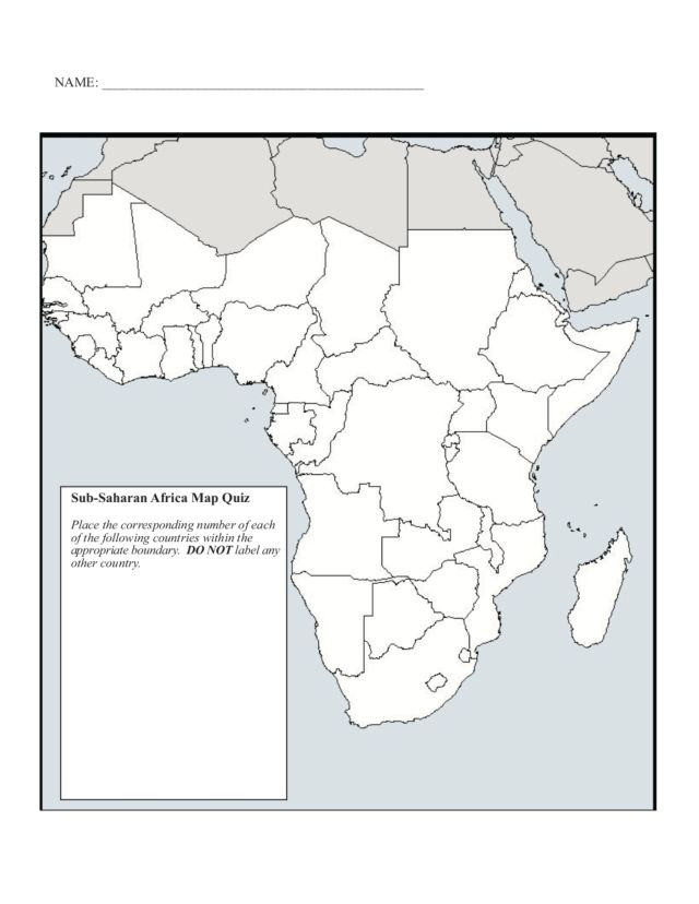 Africa Map Worksheet Collections For Kids Maths. Sub Saharan Africa Map Worksheet Cinglifestyle. Worksheet. Blank Africa Map Worksheet At Mspartners.co
