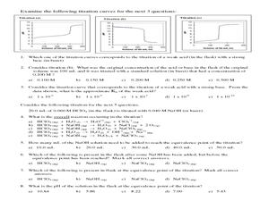 Acid-Base Titration Worksheet Answer Key : Solved ...