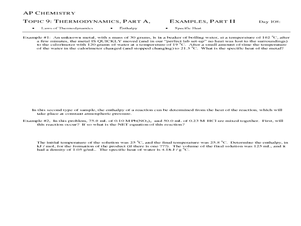 Uncategorized Thermodynamics Worksheet thermodynamics worksheet termolak chemistry diilz com