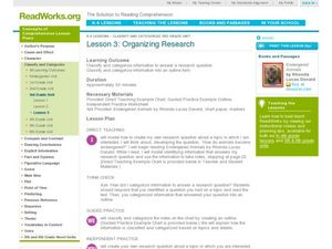 Organizing Research Lesson Plan