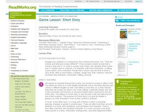Genre: Short Story Lesson Plan