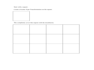 Geometric Transformations and Tessellations Worksheet