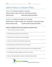 passive to active voice worksheet