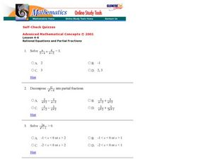 partial fractions lesson plans  worksheets  lesson planet rational equations and partial fractions