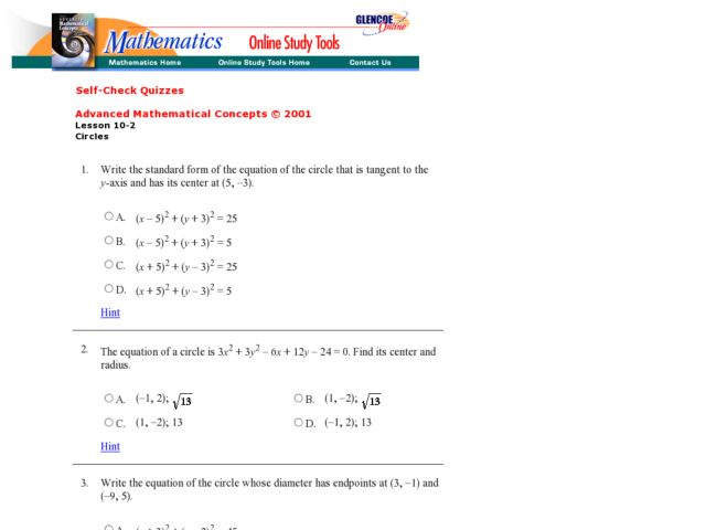 Equations Of Circles Worksheet: Circle Equations Worksheet   Delibertad,