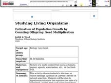 Estimation of Population Growth By Counting Offspring: Seed Multiplication Lesson Plan