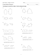 Using Similar Polygons 10th Grade Worksheet | Lesson Planet