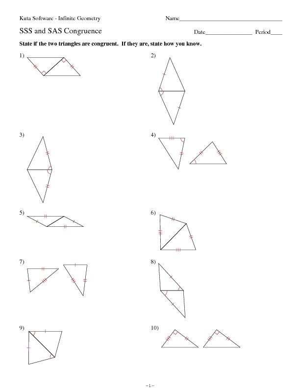 Triangle Congruence Worksheet - Rringband