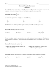 in addition Negative Exponents Worksheet   Mychaume as well Worksheet 273 PreCalculus Simplify  No negative exponents or as well  furthermore  also  moreover  moreover Zero and Negative Exponents further Zero and Negative Exponents Worksheet Elegant Zero Negative Exponent together with How to Define a Zero and Negative Exponent   Video   Lesson furthermore Negative exponents  video    Khan Academy additionally Negative Exponents  Writing Powers of Fractions and Decimals   Video moreover Exponents and Square Roots   GRE  solutions  ex les  videos moreover Best Negative Exponents   ideas and images on Bing   Find what you furthermore Negative Exponents and Zero Exponents   Lessons   Pinterest   Math in addition Best Negative Exponents   ideas and images on Bing   Find what you. on zero and negative exponents worksheet