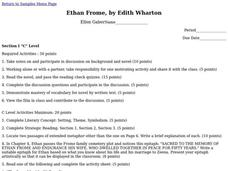 Ethan Frome Lesson Plan