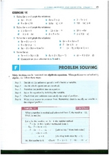 Algebra I Ch. 1: Notation and Equations Worksheet