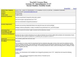 22nd Amendment Lesson Plans & Worksheets | Lesson Planet