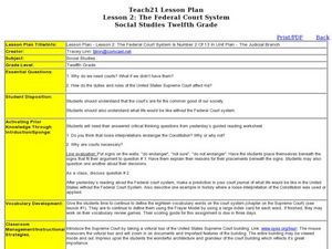 lesson 2 the federal court system lesson plan for 12th grade lesson planet. Black Bedroom Furniture Sets. Home Design Ideas