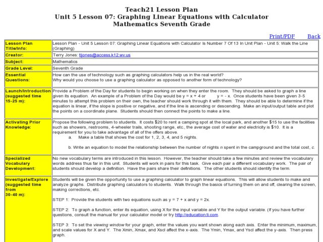 Graphing Linear Equations Lesson Plan 7th Grade Tessshebaylo Graph and Velocity Download Free Graph and Velocity [gmss941.online]