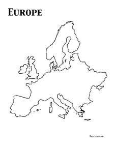 Outline Maps Of Europe Lesson Plans Worksheets Reviewed By Teachers - Europe blank map