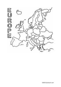 Europe Outline Map Worksheet