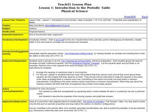 Lesson 1 introduction to the periodic table lesson plan for 9th lesson 1 introduction to the periodic table lesson plan urtaz Image collections