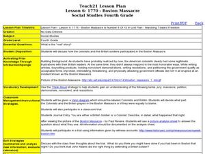 Marching Toward Freedom: Boston Massacre: Lesson 16 Lesson Plan