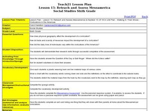 Re-teach and Assess Mesoamerica: Lesson 15 Lesson Plan