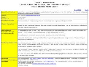 Lesson 7: How Did Science Lead to Political Theory? Lesson Plan